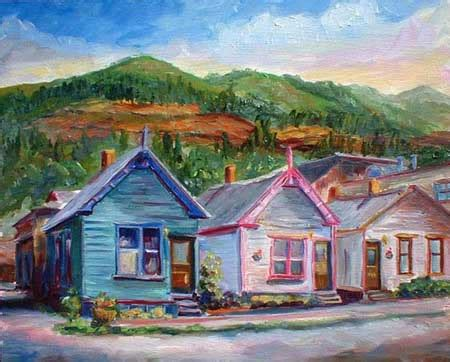 painting of houses jeff pittman artist southwest art paintings and prints