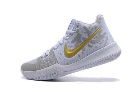 Sepatu Basket Nike Kyrie 3 Gold Medal discount nike kyrie 3 ep iii irving flyknit white gold sneakers s basketball shoes