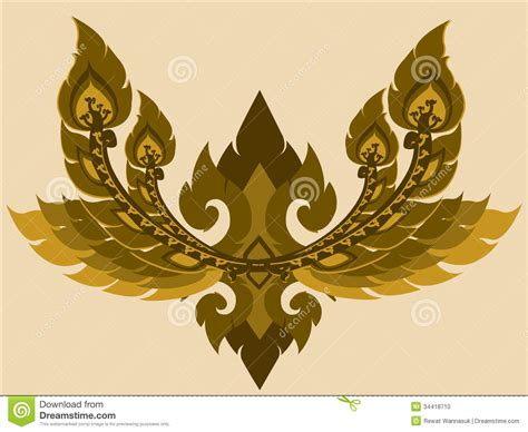 thai design thai arts line design stock illustration image of curved