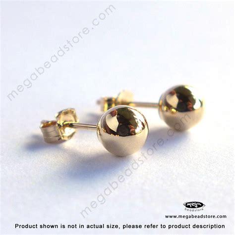14k gold 5mm stud earrings w butterfly backings