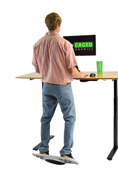 simply fit board standing desk uncaged base active standing balance board myergodesk