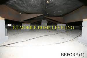 mobile home leveling et difference