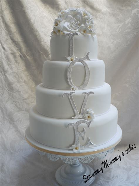 Wedding Tier Cake by Scrummy Mummy S Cakes 4 Tier Monogram Wedding Cake