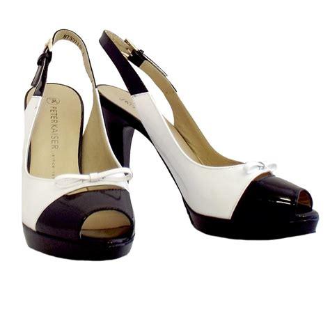 black and white shoes kaiser palmona black and white slingback