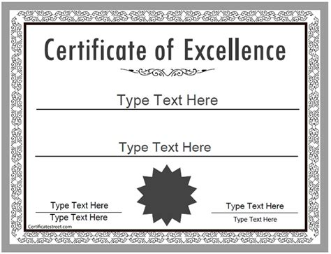 Speech Contest Certificate Template by Business Certificate Certificate Of Excellence