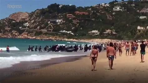 aquarius bateau youtube un bateau de migrants d 233 barque sur une plage espagnole