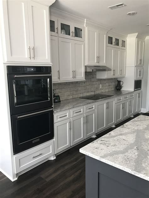 Black Kitchen Cabinets White Appliances Black Stainless Kitchenaid Appliances White Cabinets