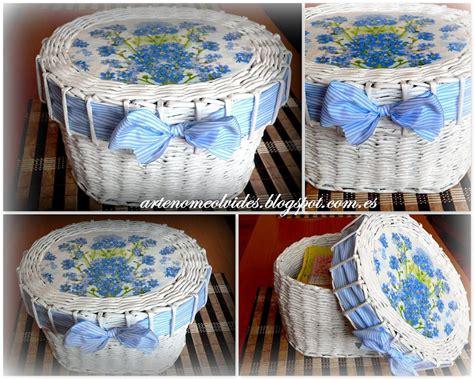 material reciclado facilisimocom cesta de papel periodico y decoupage aprender