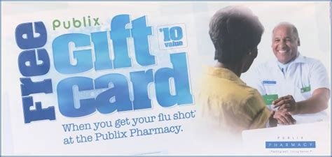 Publix Flu Shot Gift Card - 10 publix gift card with flu shot