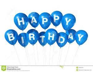 blue happy birthday balloons stock illustration image