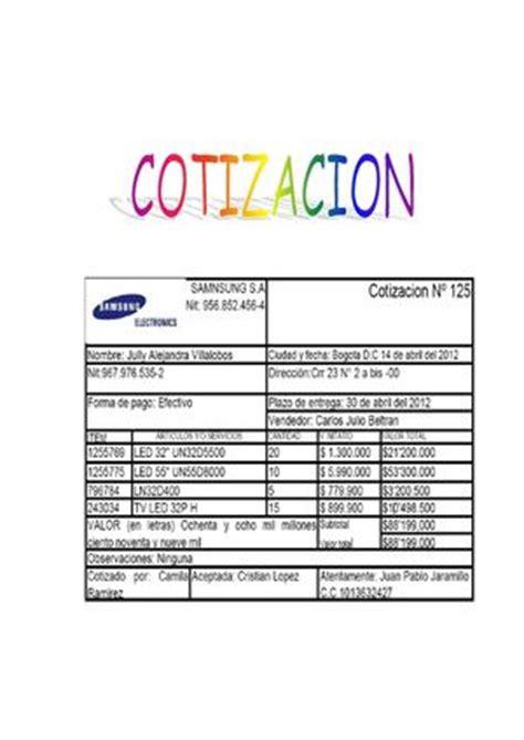 formatos de cotizacion calam 233 o formatos cotizaci 243 n pedido remision