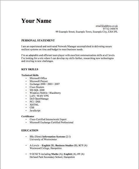 exle of simple resume for student resume ideas