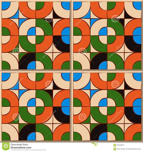 tile pattern round vintage seamless wall tiles of round square mosaic