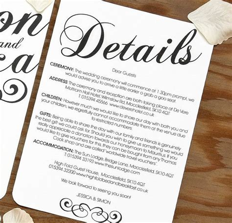 wedding invitation insert templates 25 best ideas about wedding invitation inserts on