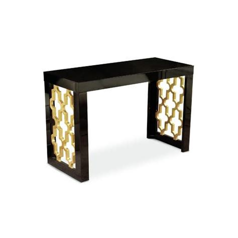 black and gold table coutur inc golden black and gold console table