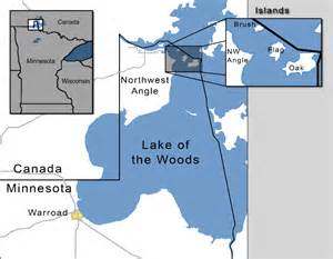 lake of the woods canada map map of lake of the woods flag island ups and downs