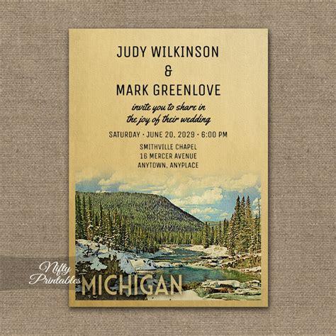 wedding invitations waterford mi michigan wedding invitation snow nature printed nifty