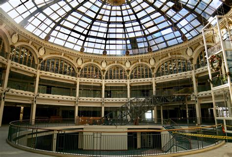 crossrail construction site hoardings undergo a make over a peek inside the abandoned dayton arcade before it