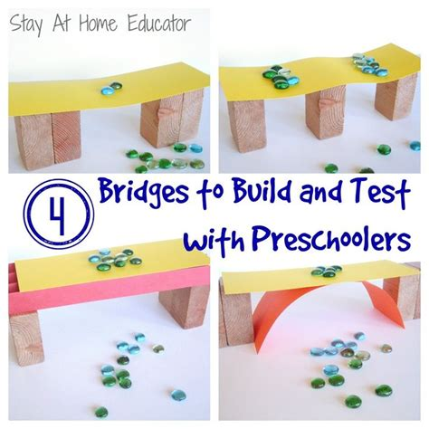 build a bridge science activity for kids bridge designs 1000 images about stem in preschool on pinterest