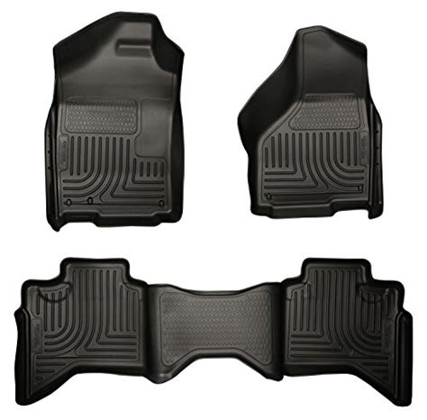 using factory floor mats on top of hushy liners husky liners front 2nd seat floor liners fits 02 08 ram
