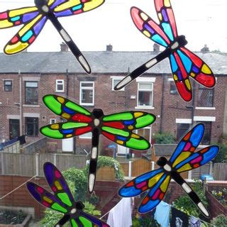 Patio Door Safety Stickers Captivating Glass Door Stickers Safety Window Clings Stained Glass Suncatcher Dragonfly Patio
