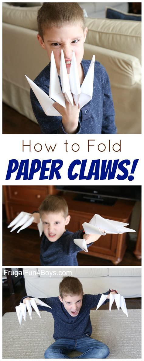 How To Fold Paper Claws - how to fold paper claws maybe someday toys and boys