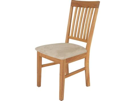 duke oak dining chair with fabric seat pad longlands