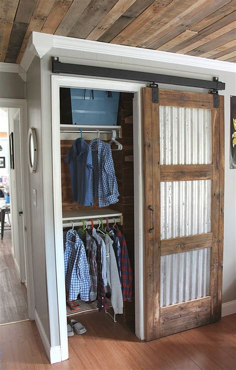 20 Diy Barn Door Tutorials Sliding Door Corrugated Tin Barn Door Tutorial