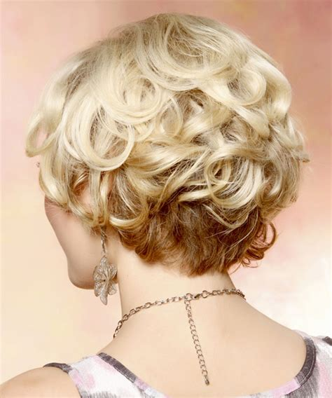 swoop bangs with short curly hair short curly formal bob hairstyle with side swept bangs