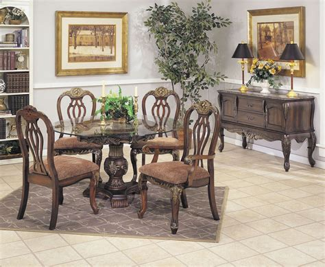classic round glass top dining room set 202224 1715tp