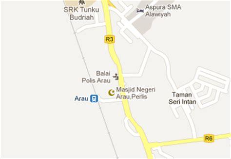 Ktm Intercity Map Arau Railway Station Mrt My