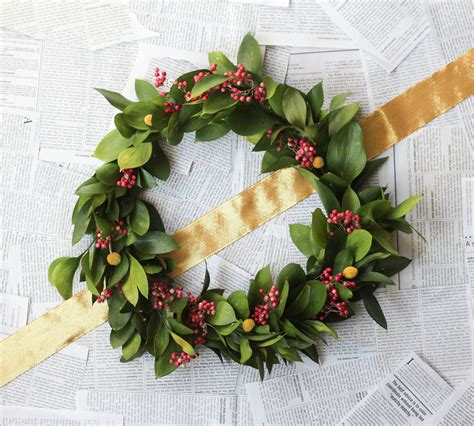 non traditional holiday wreath the crafted life