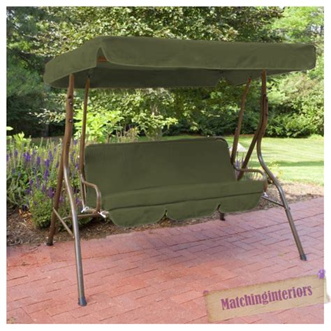 swing set cover olive splashproof 3 seater garden hammock swing seat