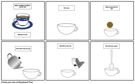 how to make a cup of tea storyboard by jordanday
