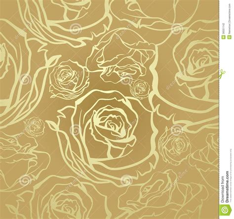 vintage pattern com seamless golden roses stock photography image 36551142