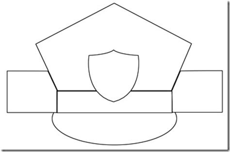 policeman hat coloring page kindergarten mail carrier unit confessions of a homeschooler