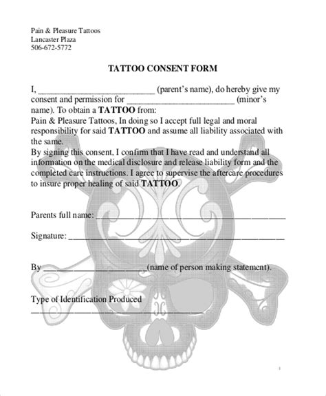 tattoo paperwork app tattoo consent form pictures to pin on pinterest tattooskid