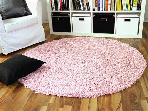 rosa teppich rund hochflor langflor shaggy teppich aloha rosa rund teppiche