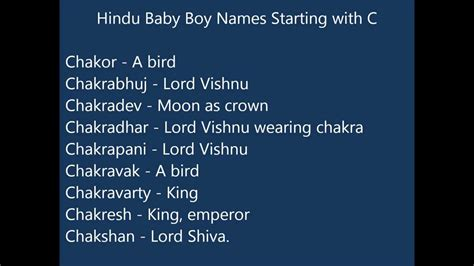 c names indian hindu baby boy names starting with c