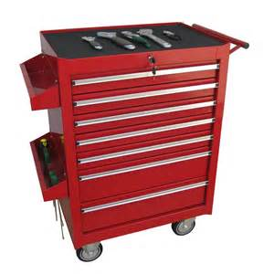 Tool Cabinets On Wheels Workshop Tool Trolley 4 Rollers Cart Box Cabinet Power