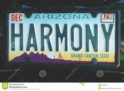 Arizona Vanity Plate by Vanity License Plate Arizona Editorial Stock Image