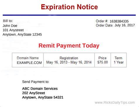 scam alert beware fake domain  renewal notices