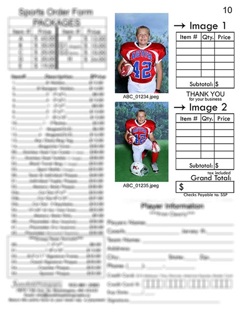 youth sports photography templates photography order form order form form