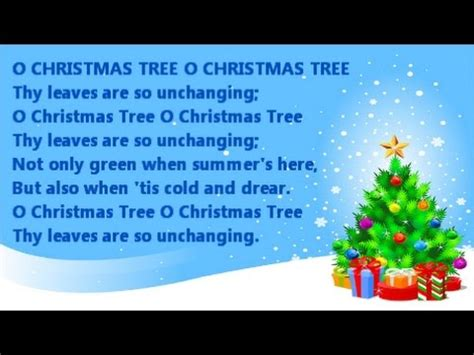 o christmas tree instrumental with song lyrics from the