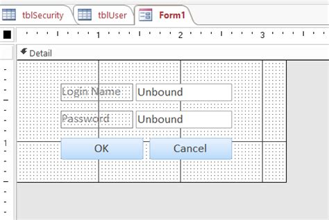 2016 Access Query Command For Finding Mba In A Name by How To Create A Login Form For Ms Access