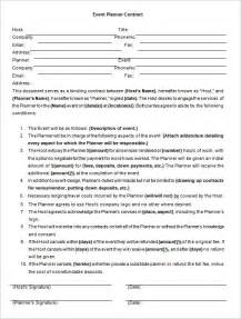 wedding planner contract template event planner contract template event planner template