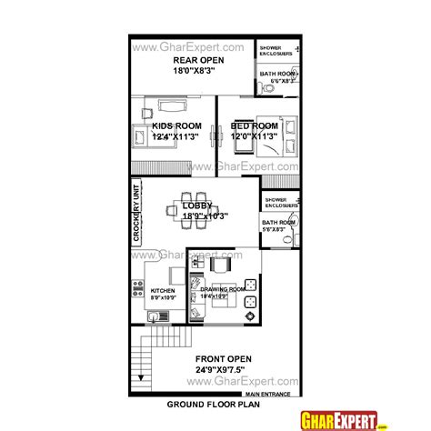 home design for 20x50 plot size house plan for 25 feet by 53 feet plot plot size 147