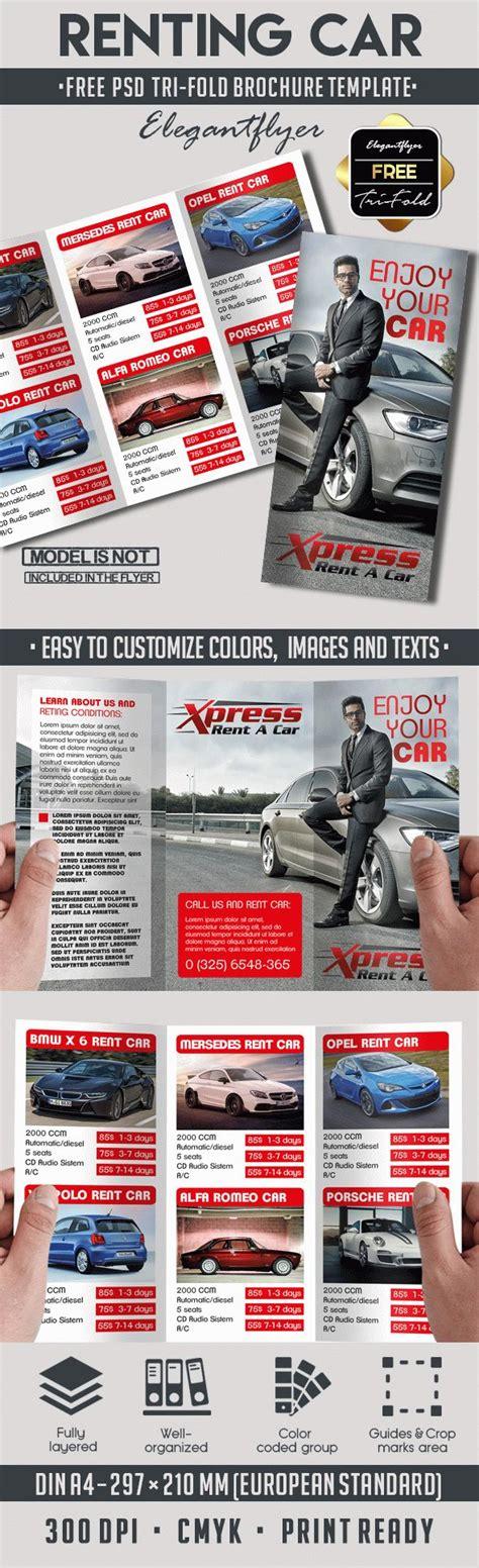 Rent A Car Free Psd Tri Fold Psd Brochure Template By Elegantflyer Tri Fold Brochure Template Psd Free
