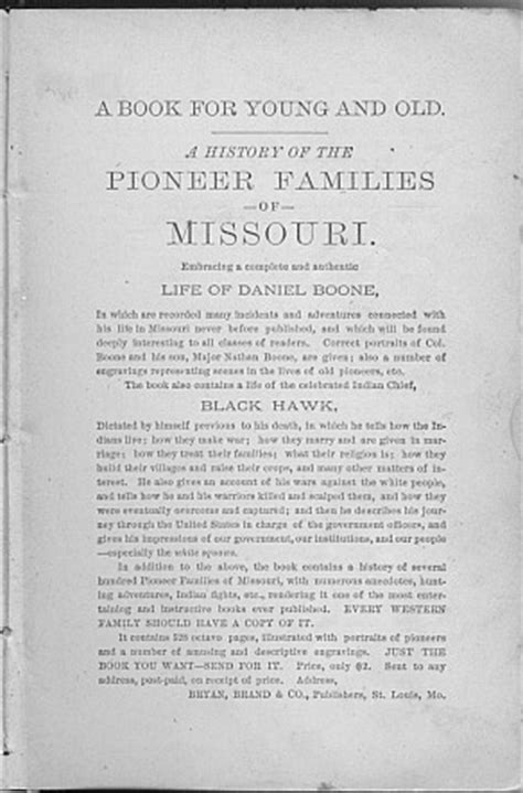 a history of the pioneer families of missouri with numerous sketches anecdotes adventures etc relating to early days in missouri also the lives indian chief black hawk classic reprint books pioneer families of missouri