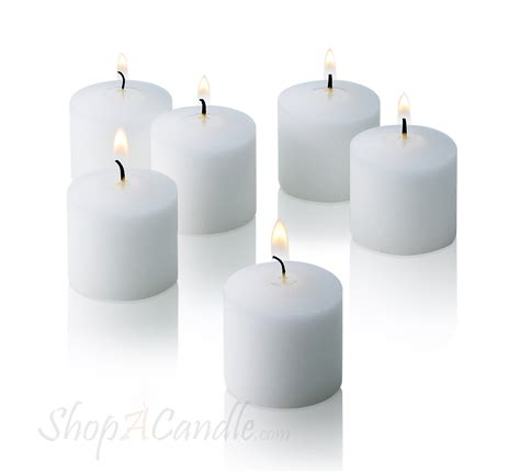 White Candles White Votive Candles Unscented Set Of 72 Buy On Shopacandle